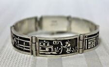 "Bracelet 6-3/4"" 35.8 grams Vintage Sterling Hinged Panel"