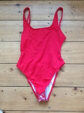 Asos Red Scoop Back Swimsuit Sz 6 Bnwot