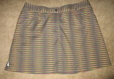 Slazenger Golf/Tennis Short Skirt Shorts Dark Gray with Dots size 12