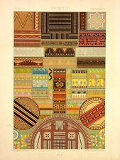 RAop001 Décoration tissu sculpture plume peintures art primitif  Océanie Afrique