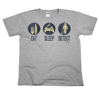 Eat Sleep DETECT Mens Funny T-Shirt Dig Metal Detector Treasure Top Tee