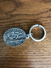 Longaberger 25th Anniversary Pewter Key Chain New In Bag