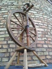 Split Wheel Yarn Antiques Handcrafted Authentic Wood ManualTool Vintage Retro