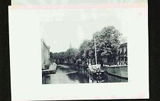 Delft-Canal-Near the Arsenal Holland-Netherlands-Boat- Rare 1904 Photogravure