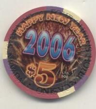 LAS VEGAS   FOUR QUEENS 2006 HAPPY NEW YEAR  CASINO  $5 CHIP