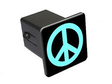 Peace Sign Light Blue - Tow Trailer Hitch Cover Plug Insert Truck