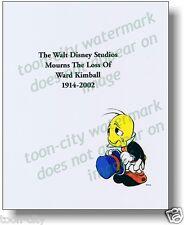 Jiminy Cricket mourns the loss Ward Kimball 8 x 10 NEW Speechless