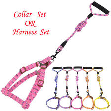 Puppy Harness and Lead Set Nylon Dog Collar and Leash For Small Medium Dogs