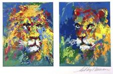 "Leroy Neiman ""Lion and Lioness"" Hand Signed/numbered serigraph"