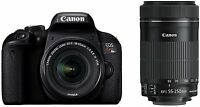 Canon DSLR EOS Kiss X9i Double Zoom Kit EF-S18-55mm/EF-S55-250mm 2017 Model New