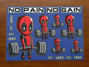 Deadpool Vinyl Stickers Gym Wall Decal Car Laptop Gym Bottle Weights Phone Case