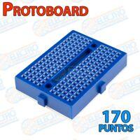 Mini Protoboard 170 puntos enlazable - AZUL 170p - Arduino Electronica DIY