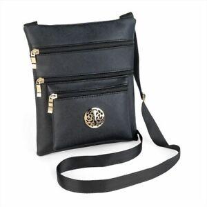 BG29866 Black and gold colour design motif hip bag.