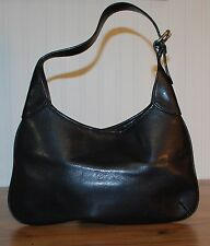 Banana Republic Small Black Leather Hobo handbag Purse Zip Top Quality made