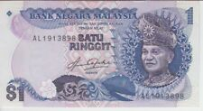 MALAYSIA BANKNOTE P19A 1 RINGGIT TDLE, EF+