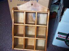 vintage wooden nick nac shelf nice the vertical slots slide out 14 x 9 1/4