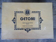 Getomi Cigar Box Wood Mexico Tabaco De San Andres Used apx 11x8x2
