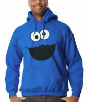 Cookie Monster Face Adult Hoodie