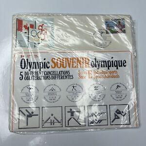 E Olympic 76 Souvenir 5 Cancellations FDC International Canada Series E