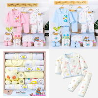 US 18 Pcs 0-6 Months Newborn Baby Boys Girls Outfit Essentials Layette Gift Set
