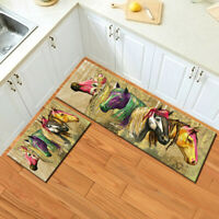 Colorful Horse Animals Print Area Rugs Kitchen Carpets Bedroom Floor Mat Decor