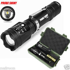 Zoomable Cree XML T6 LED Tactical 5000LM Taschenlampen+18650 Akku+Ladegerät+Case