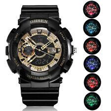 Reloj Deportivo Ohsen Para Hombre Militar Impermeable pantalla de hora dual alarma relojes de pulsera