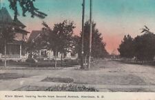 Postcard Klein Street Looking North from Second Ave Aberdeen SD