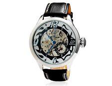 Shenhua 9528 Orologio meccanico - cinturino in ecopelle (silver & nero)