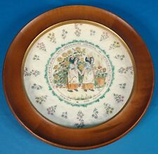 "Royal Doulton Kate Greenaway Almanack May ""The Twins"" Plate w/ Wood Frame"