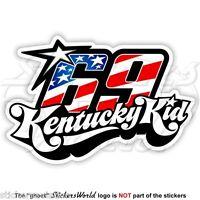"""NICKY HAYDEN 69 Kentucky Kid MotoGP Racing 100mm (4"""") Sticker Decal Aufkleber"""