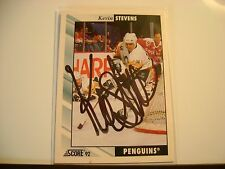 KEVIN STEVENS HAND SIGNED AUTO AUTOGRAPH NHL HOCKEY CARD PENGUINS FLYERS RANGERS