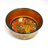 """#3-3 h=4/"""" Wooden Candy Bowl Russian Khokhloma hand painted"""