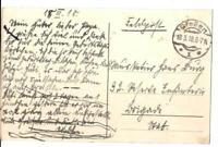 Feldpostkarte 1. Weltkrieg, Staufenberg: Pforte, vom 18.03.1918