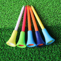 50 PCS 83mm Plastic Golf Tees Rubber Cushion Professional Multicolor golf tees