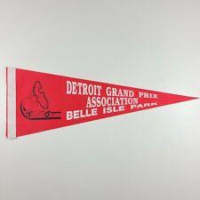 VTG Detroit Grand Prix Association Racing Pennant Belle Isle Park Red Formula 1