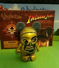"Disney Park Vinylmation 3"" Set 1 Indiana Jones Gold Idol Chaser with Box"