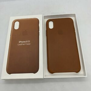 Official Genuine Apple iPhone X / XS Leather Case Saddle Brown MRWP2ZMA Original