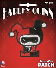 Harley Quinn Mini Chibi Style Figure Embroidered Patch Batman, NEW UNUSED AB