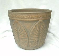 Robinson Ransbottom Brush Ware Brushed Luxor Glaze Green Porch Flower Pot 10""