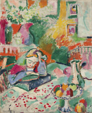 Repro For Henri Matisse Interior with a Young Girl Art Fabric Oil Painting Deco
