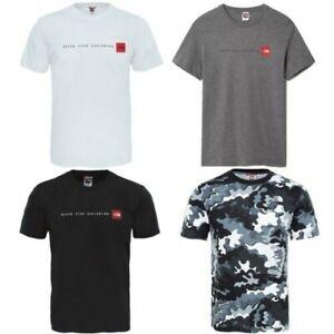 The North Face mens Nse T-Shirts Rouge Boite Fin Imprimé Camo Court Manche Ras T