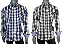 Michael & David Men's Designer Slim Fit Casual Dress Shirts