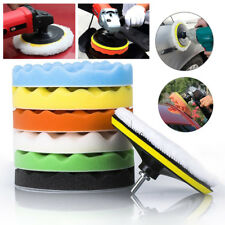 9 Pack 7 INCH Polishing Sponge Waxing Buffing Pad Compound Car Polisher Drill