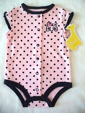 First Moments 3 months Pink Blue Polka Dots Love Bug Ladybug Bodysuit New
