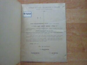 Program Cesky Spolek Sachovni v Praze 13.-14.Cervna 1886
