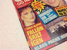 """Fallon Colby Pamela Sue Martin Dynasty Vtg Danish Magazine 1985 """"Se og Hoer"""""""