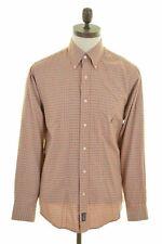 NAUTICA Mens Shirt Medium Orange Check Cotton  GW11