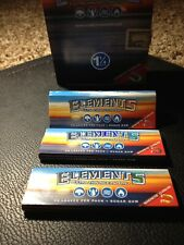 FREE SHIPPING 3 Packs Elements Ultra Thin Rice Rolling Papers 1-1/4