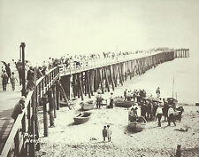 "NEWPORT BEACH Doryman Fish Market & Pier VINTAGE Photo Print 1469 11"" x 14"""